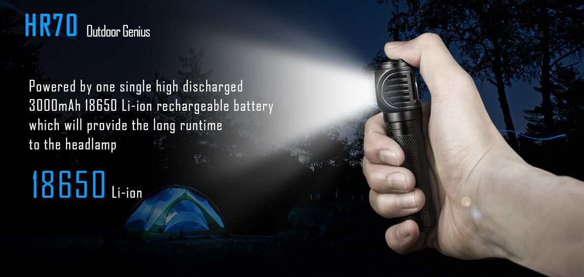 2019 Imalent HR 70 DEL Lampe frontale//Lampe au Chapeau CREE XHP 70.2 Gen 3000 lm