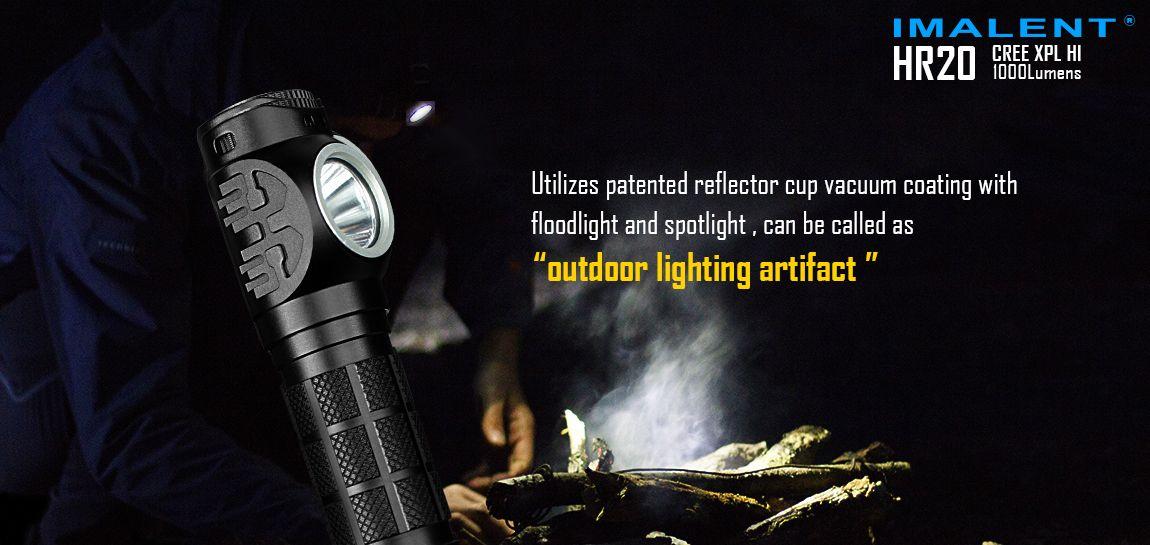 Imalent HR 20 LED Stirnlampe mit CREE XPL HI v3 1000 Lumen 2019